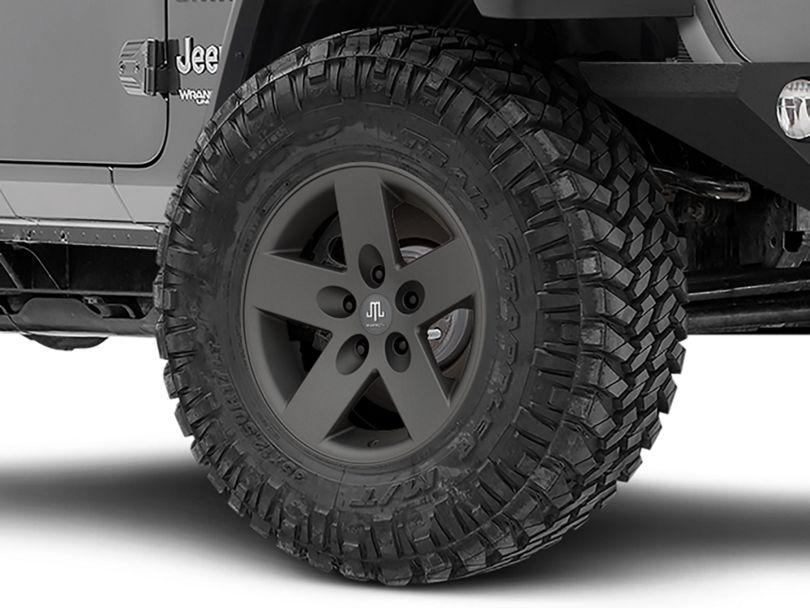 Mammoth Moab Charcoal Wheel; 17x9 (18-20 Jeep Wrangler JL)