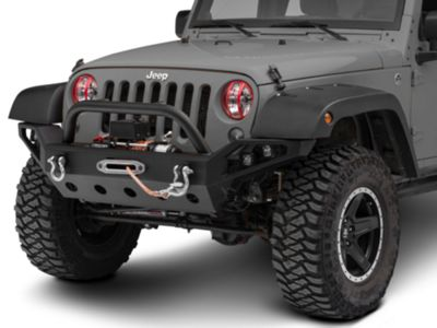 Rugged Ridge Elite Pivotal Headlight Euro Guards - Red Aluminum (07-18 Jeep Wrangler JK)