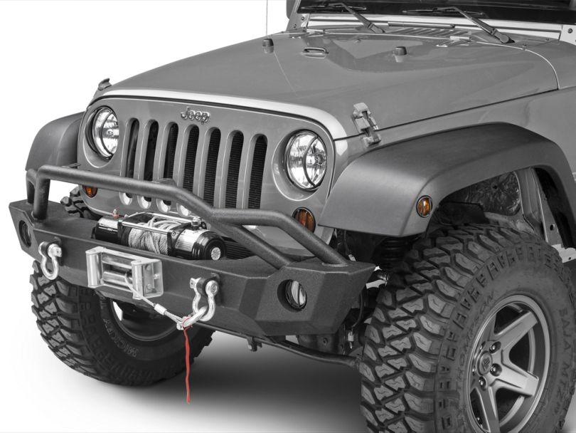 Rugged Ridge 10-Piece Euro Light Guard Kit - Textured Black (07-18 Jeep Wrangler JK)