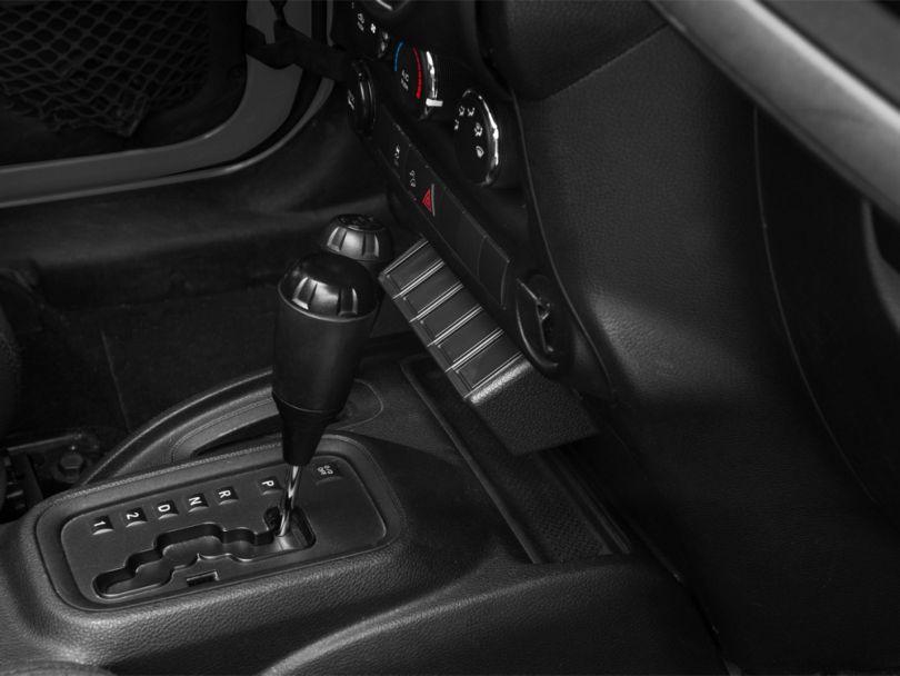 Rugged Ridge Lower Center Console Switch Pod Panel (11-18 Jeep Wrangler JK)