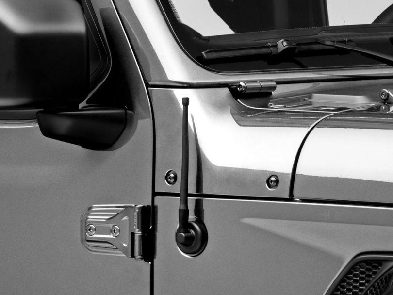 Rugged Ridge Reflex Stubby Antenna; 9-Inch (97-20 Jeep Wrangler TJ, JK & JL)