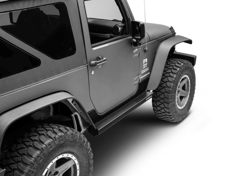 Rock-Slide Engineering Step Sliders w/ Body Armor - Textured Black (07-18 Jeep Wrangler JK 2 Door)
