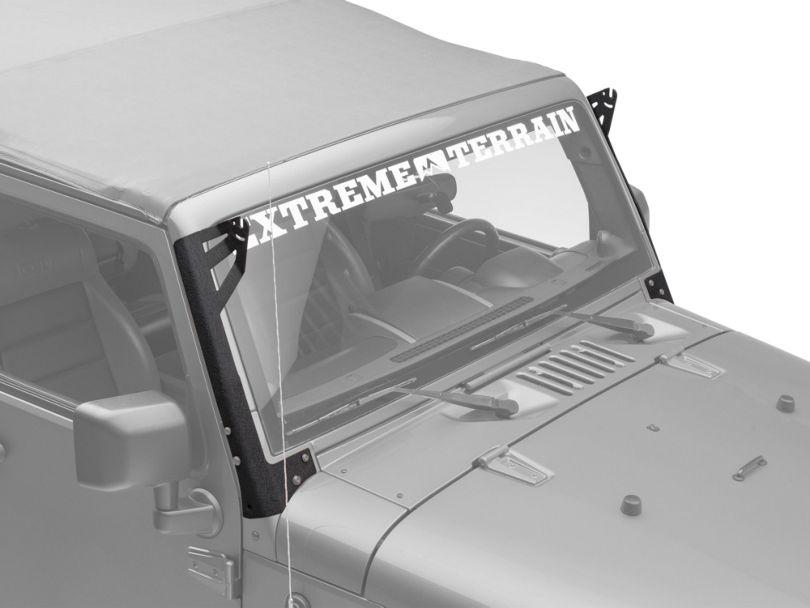 Axial Single 50 in. Windshield Pillar Light Bar Mount (07-18 Jeep Wrangler JK)