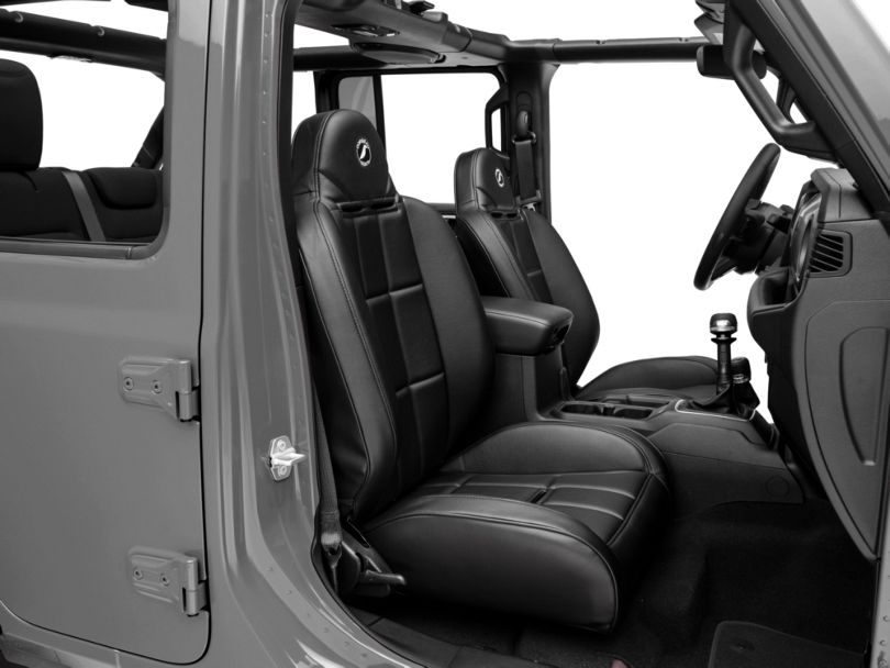 Corbeau Baja RS Suspension Seats; Black Vinyl; Pair (87-18 Jeep Wrangler YJ, TJ & JK; Seat Brackets are Required for TJ & JK Models)