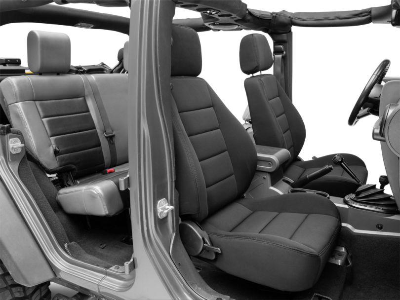 Corbeau Sport Reclining Seats; Black Neoprene; Pair (87-18 Jeep Wrangler YJ, TJ & JK; Seat Brackets are Required for TJ & JK Models)