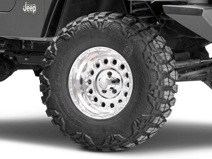 Raceline 887 Rockcrusher Polished Wheel - 15x8 (97-06 Jeep Wrangler TJ)