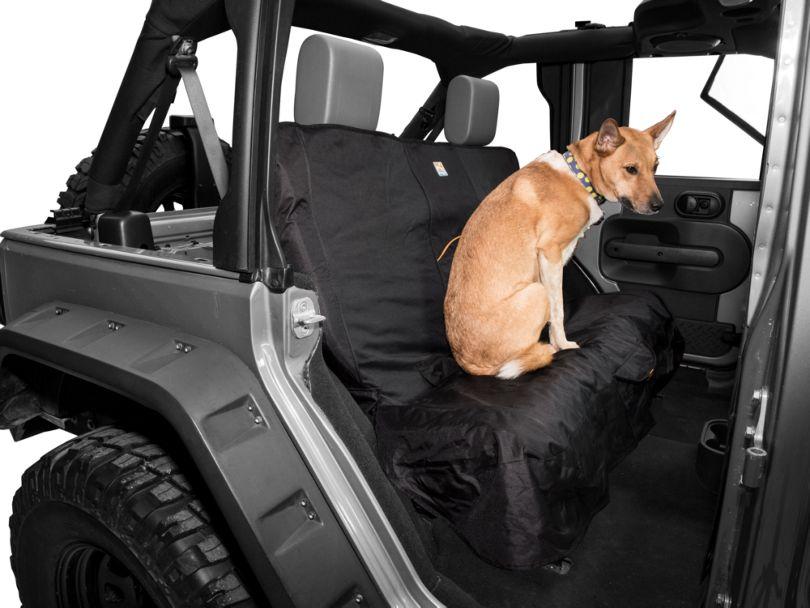 Kurgo Wander Rear Bench Seat Cover - Black (87-20 Jeep Wrangler YJ, TJ, JK & JL)