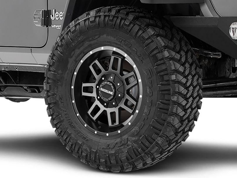 Raceline Injector Black Wheel - 17x9 (18-20 Jeep Wrangler JL)
