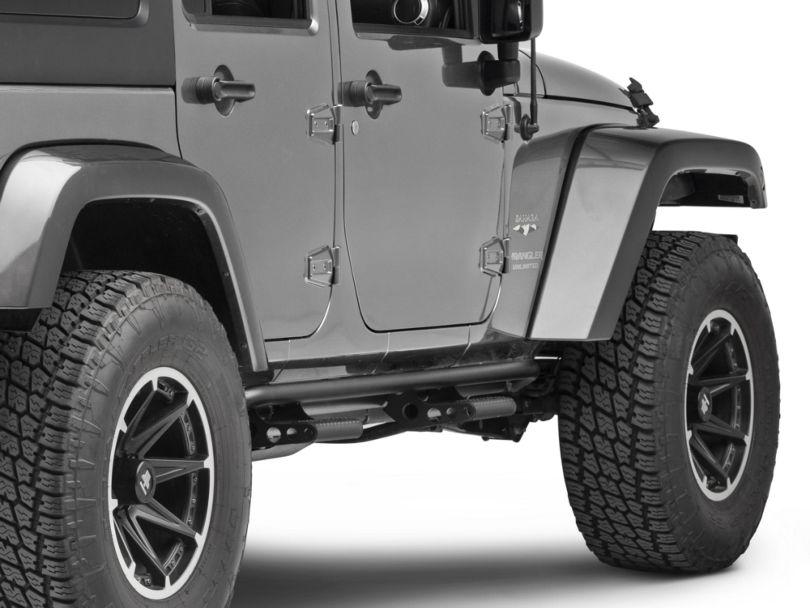 N-Fab Cab Length RKR Side Rails w/ Detachable Steps - Textured Black (07-18 Jeep Wrangler JK 4 Door)