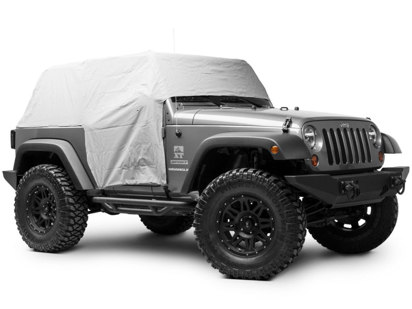 Bestop All-Weather Trail Cover - Gray (07-18 Jeep Wrangler JK 2 Door)