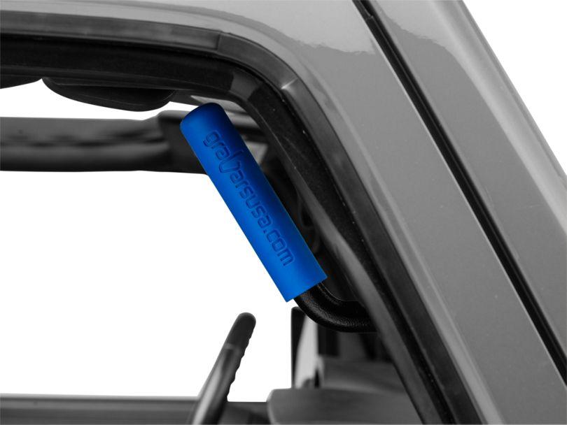 Front & Rear Grab Handles w/ Blue Grips (07-18 Jeep Wrangler JK 4 Door)