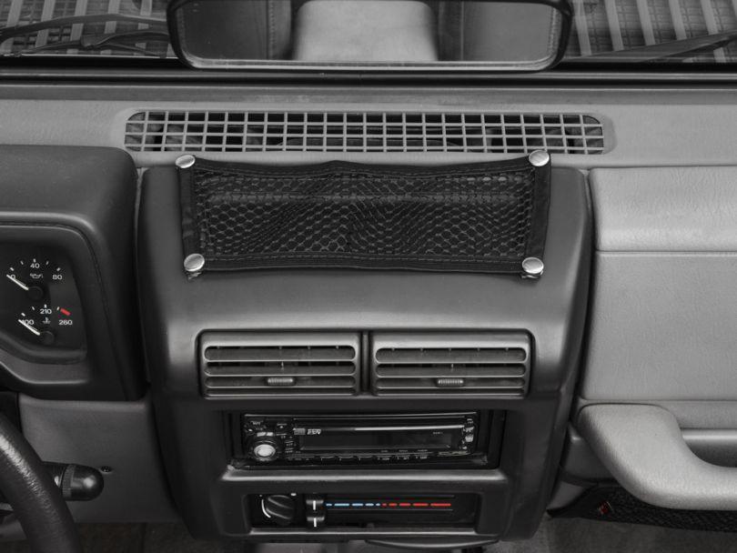 Rugged Ridge Black 5 Piece Interior Mesh Storage Net Kit (97-06 Jeep Wrangler TJ)