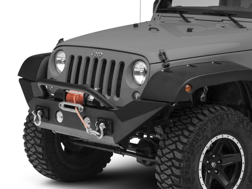 Rugged Ridge Spartan Front Bumper with High Clearance Ends and Over-Rider Hoop (07-18 Jeep Wrangler JK)