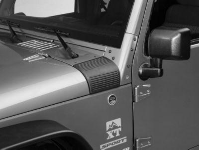 Rugged Ridge Black Cowl Body Armor - Pair (07-18 Jeep Wrangler JK)