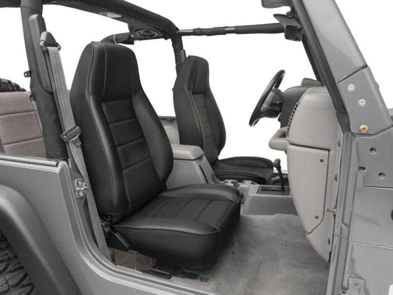Smittybilt Factory Style Recliner; Black Denim (87-02 Jeep Wrangler YJ & TJ)
