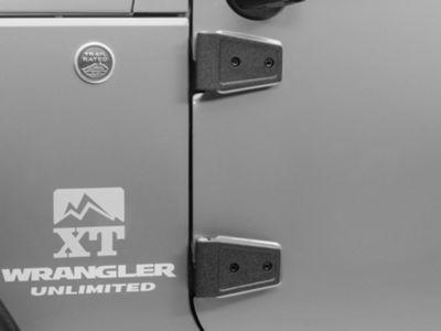 Rugged Ridge Black Door Hinge Cover Kit (07-18 Jeep Wrangler JK 4 Door)