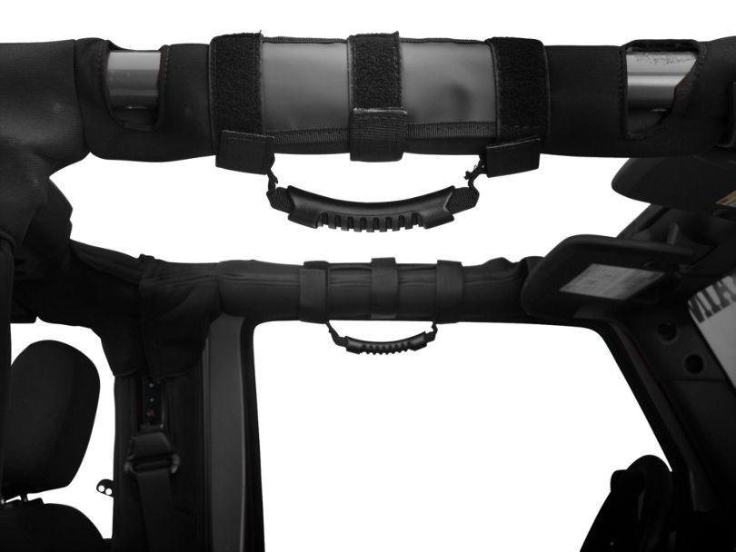 Rugged Ridge Ultimate Grab Bar Handles - Black (87-20 Jeep Wrangler YJ, TJ, JK & JL)