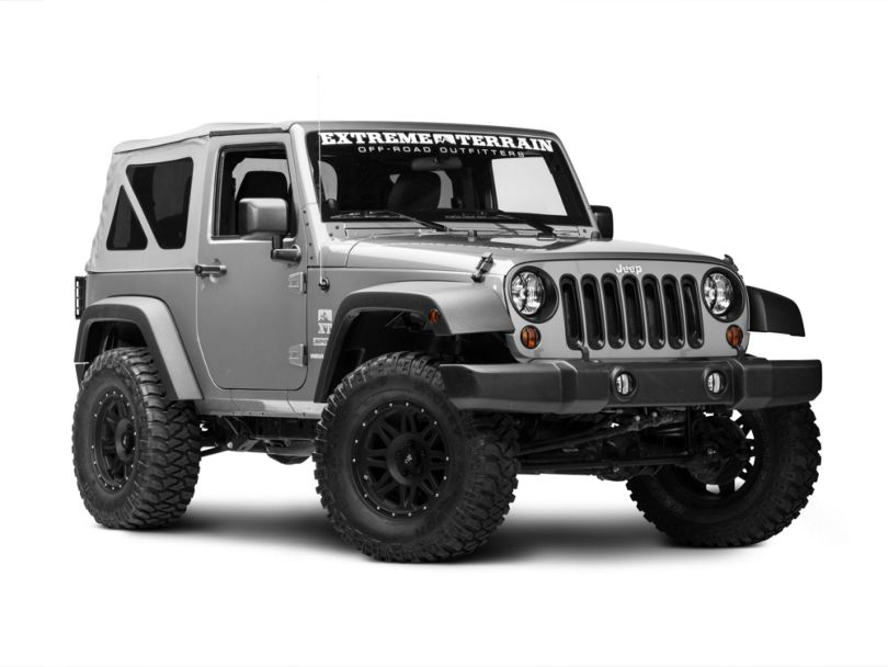Rugged Ridge 19-Piece Euro Light Guard Kit - Black (07-18 Jeep Wrangler JK)