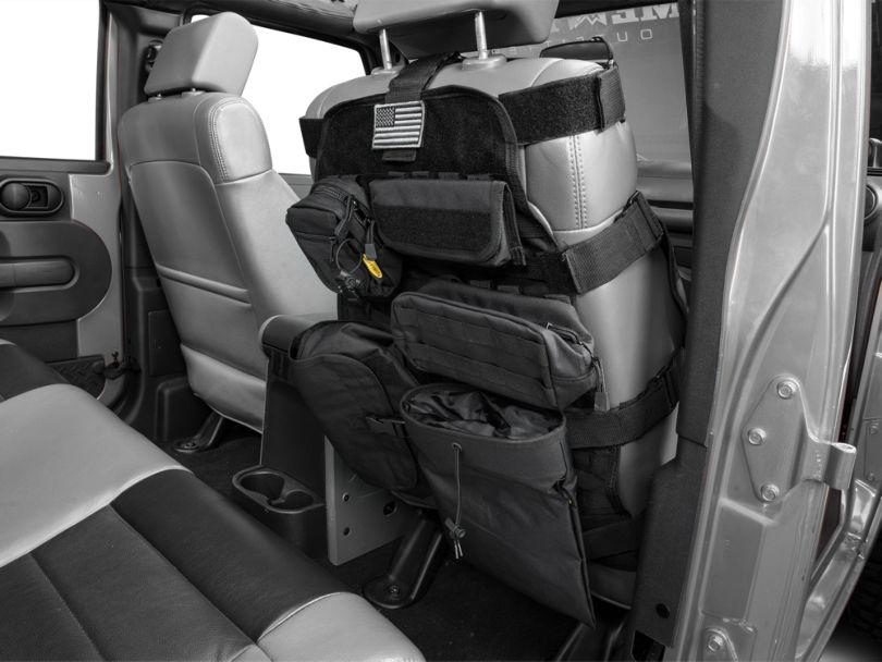 Smittybilt G.E.A.R. Front Seat Cover - Black (87-18 Jeep Wrangler YJ, TJ, & JK)