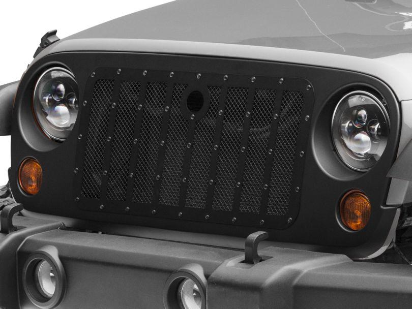 RedRock 4x4 Vader Grille - Matte Black (07-18 Jeep Wrangler JK)