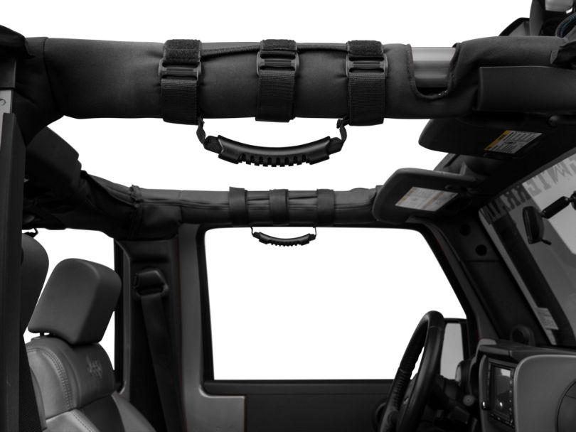 Rugged Ridge Neoprene Grab Handles; Black (07-20 Jeep Wrangler JK & JL)