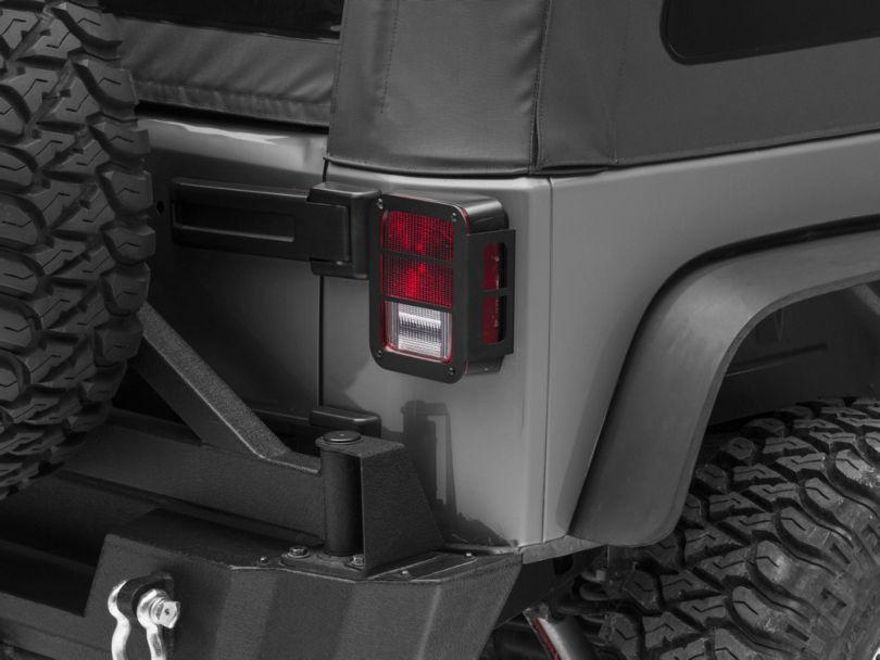 RedRock 4x4 Tail Light Guards - Black (07-18 Jeep Wrangler JK)