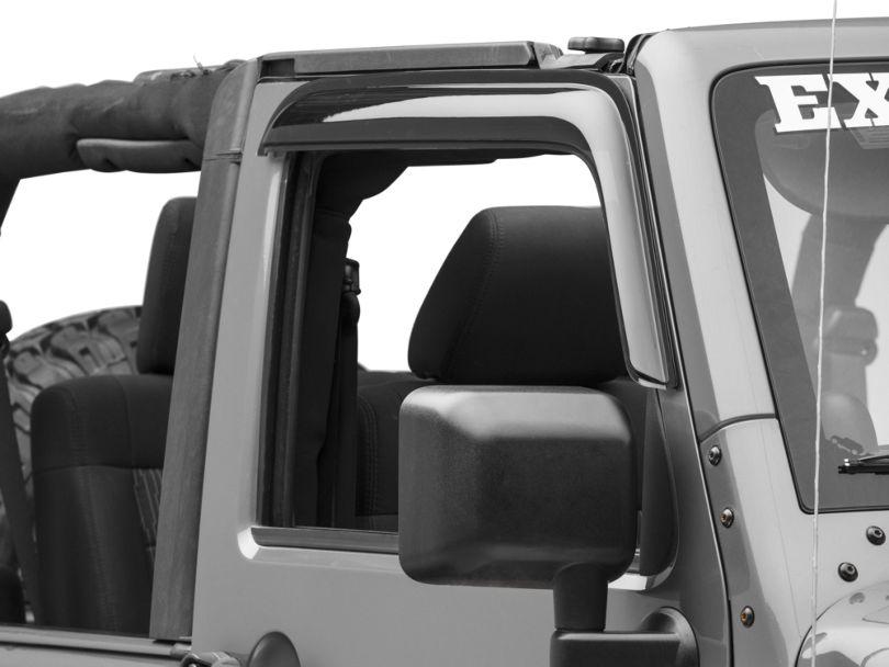 RedRock 4x4 Rain Guards - Smoked (07-18 Jeep Wrangler JK 4 Door)
