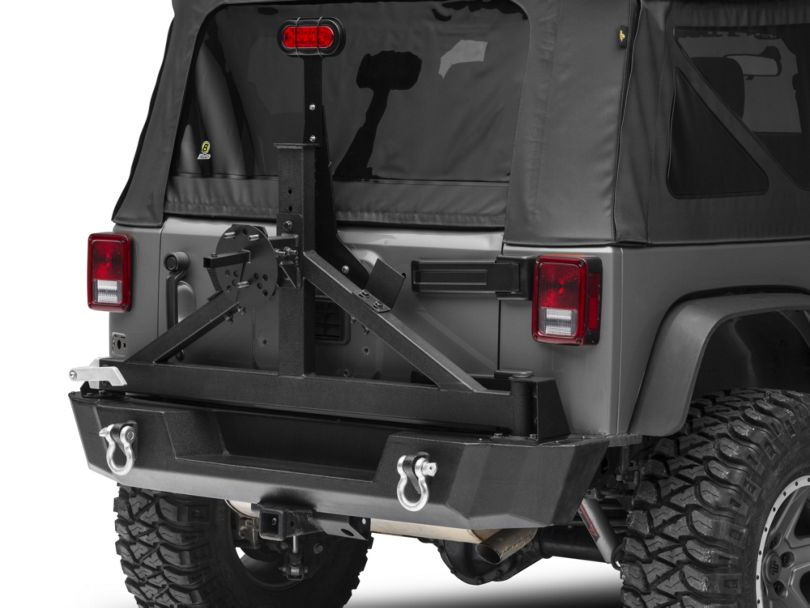RedRock 4x4 Tire Carrier Mounted License Plate Bracket (07-20 Jeep Wrangler JK & JL)