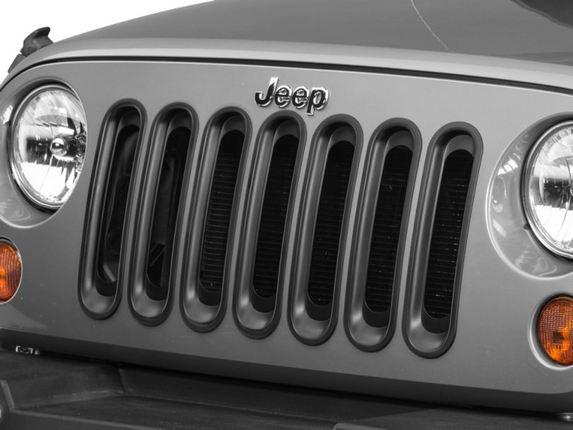 Rugged Ridge Grille Inserts - Black (07-18 Jeep Wrangler JK)