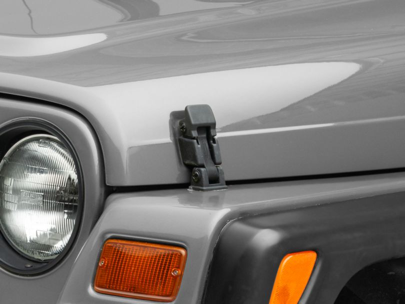 Rugged Ridge Black Hood Catch Assembly (97-06 Jeep Wrangler TJ)