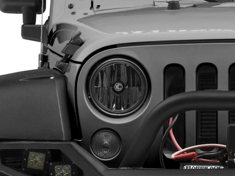 KC HiLiTES 7-Inch Gravity LED Headlight (07-18 Jeep Wrangler JK)