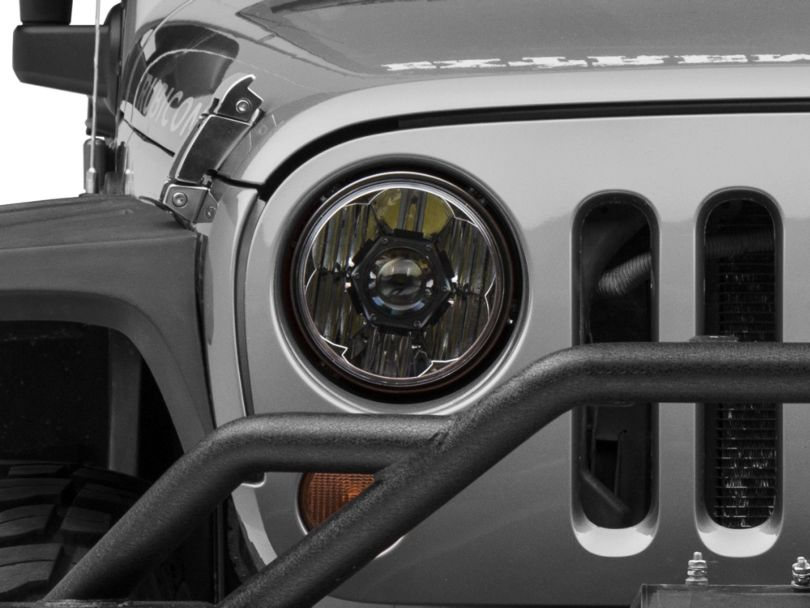 KC HiLiTES 7-Inch Gravity Pro LED Headlight (07-18 Jeep Wrangler JK)