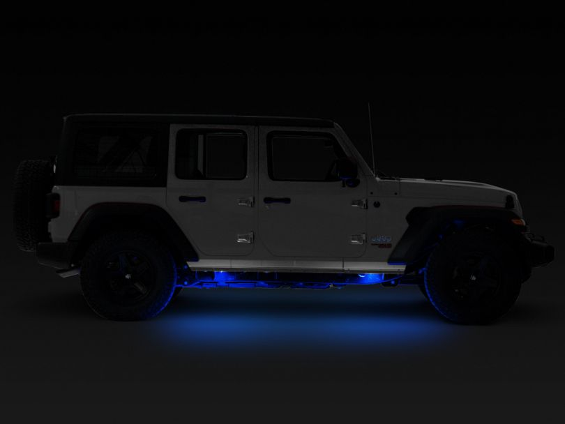 KC HiLiTES 6 Cyclone LED Rock Light Kit - Blue (07-19 Jeep Wrangler JK & JL)