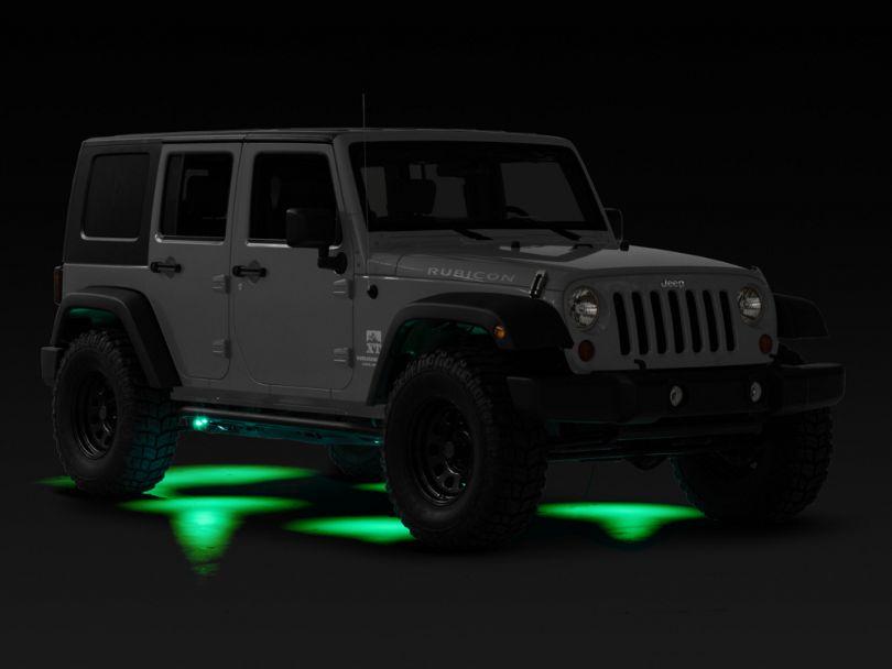 KC HiLiTES 6 Cyclone LED Rock Light Kit - Green (07-20 Jeep Wrangler JK & JL)