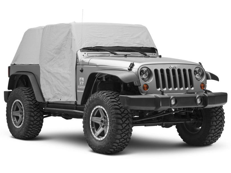 Waterproof Cab Cover - Gray (07-18 Jeep Wrangler JK 2 Door)