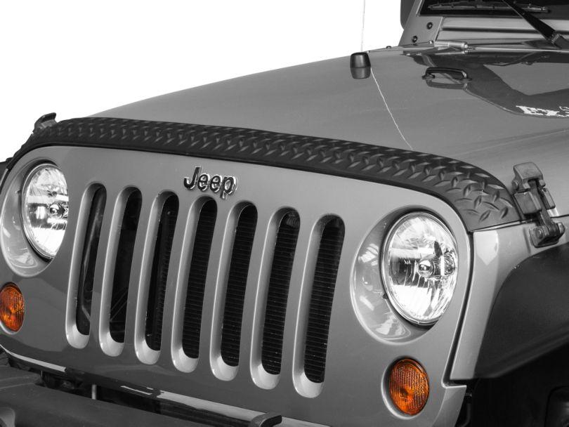 Rugged Ridge Body Armor Hood Stone Guard - Black (07-18 Jeep Wrangler JK)
