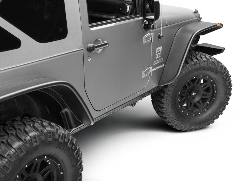 Rugged Ridge Rocker Side Panel Body Armor Kit (07-18 Jeep Wrangler JK 2 Door)