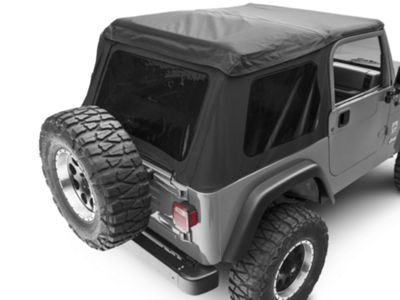 Rugged Ridge Bowless XHD Soft Top w/ Tinted Windows - Black Diamond (97-06 Jeep Wrangler TJ, Excluding Unlimited)