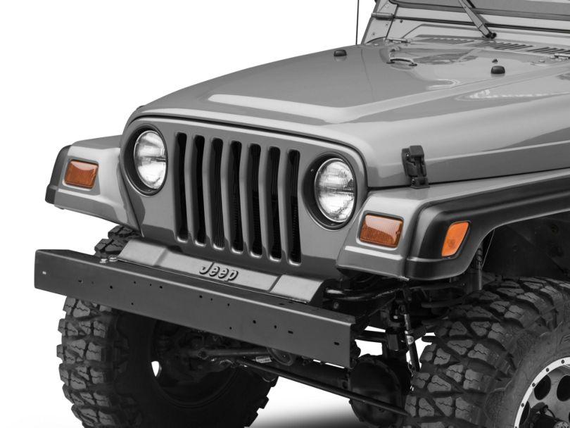 Front Bumper; Black (97-06 Jeep Wrangler TJ)