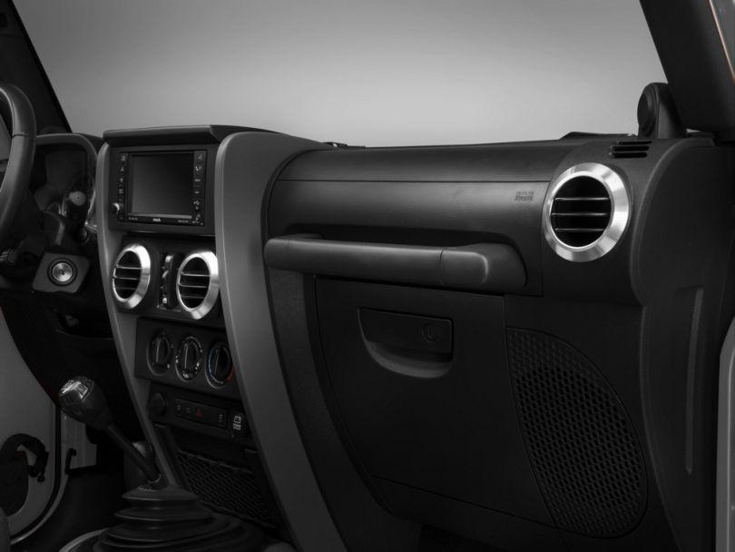 Rugged Ridge Brushed Aluminum AC Vent Bezels (07-10 Jeep Wrangler JK)