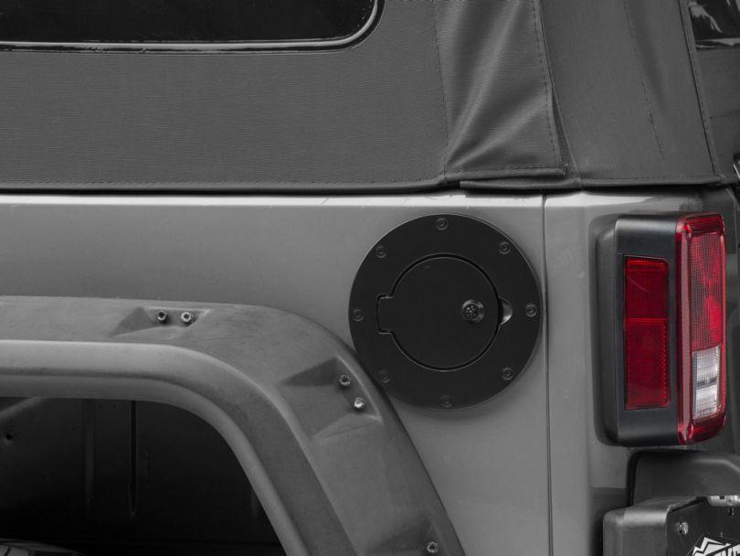 Locking Fuel Door - Black (97-06 Jeep Wrangler TJ; 07-18 Jeep Wrangler JK 4 Door)