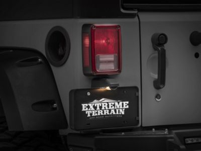 Omix-ADA Rear License Plate Bracket w/ Lamp (07-18 Jeep Wrangler JK)