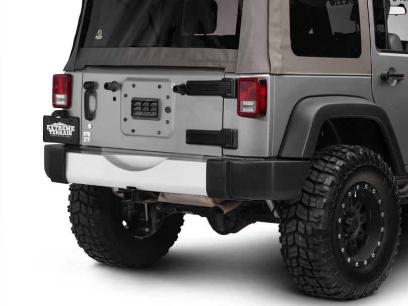 Rugged Ridge Rear Bumper Applique - Silver (07-18 Jeep Wrangler JK)