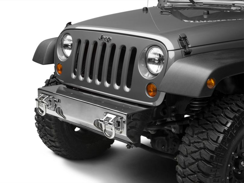 Rugged Ridge XHD Light Mount Modular Non-Winch Front Bumper - Stainless Steel (07-18 Jeep Wrangler JK)