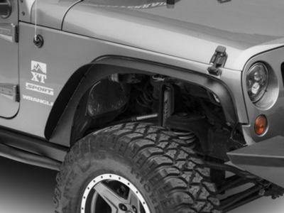 RT Off-Road Steel Fender Flares - Textured Black (07-18 Jeep Wrangler JK)