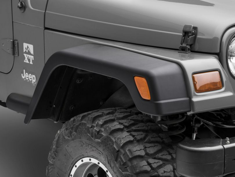 Wide Fender Flares w/ Extensions (97-06 Jeep Wrangler TJ)