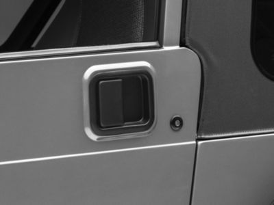 Vintage Driver & Passenger Side Door Handle - Black (97-06 Jeep Wrangler TJ w/ Full Steel Doors)