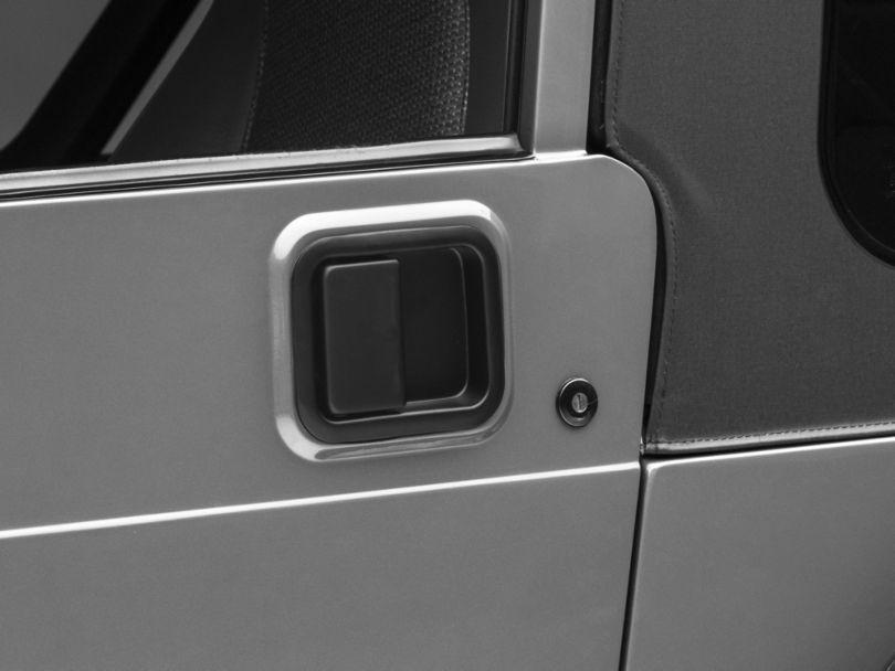 Paddle Door Handle; Black (87-06 Jeep Wrangler YJ & TJ w/ Steel Doors)