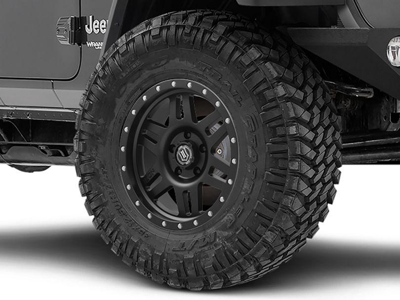 ICON Vehicle Dynamics Six Speed Satin Black Wheel - 17x8.5 (18-20 Jeep Wrangler JL)