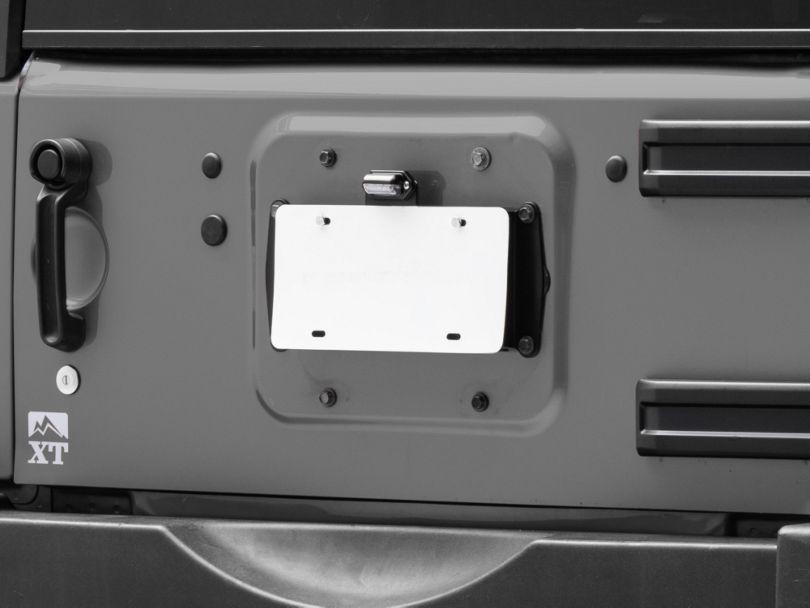 JKS License Plate Relocation Kit with Light (07-18 Jeep Wrangler JK)